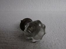 Vintage Old Collectible Victorian White Cut Glass Door Drawer Knob Handle Pull