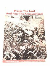 "1942 ""Praise The Lord and Pass The Ammuninition"" Sheet Music"