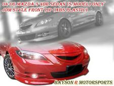 JDM Style Front Lip (ABS) Fits 04-06 Mazda 3 4dr S-Model