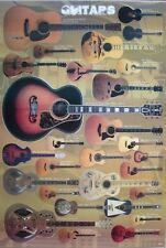 ACOUSTIC GUITAR POSTER FROM ASIA: Gibson,Yamaha,National,Ovation,Marshall,Taylor
