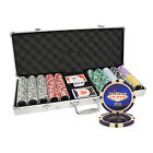 500pcs 14g LAS VEGAS LASER CASINO TABLE CLAY POKER CHIPS SET ALUMINUM CASE