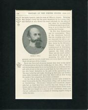 Confederate General Richard S Ewell US Civil War Original Book Photo Display