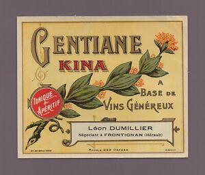 Etikett - Enzian Kina - Léon Dumillier