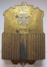 Antique Brass Gold Gilt Glow in Dark Iron Cross Match Safe Vesta Holder pat 1883