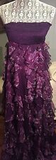 Bebe Long Flowing Dress In deep Purple Size 8  with flowing layers Prom Season