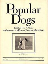 Vintage Popular Dogs Magazine September 1, 1936 Fox Terrier Cover