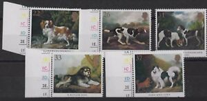z344) Great Britain. 1991. MNH. SG 1531 to 1535. Dogs