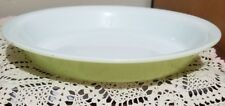 """Vintage Glass Lime Green Pyrex Ovenware #209 8 1/2"""" Pie Plate Baking Dish Pan"""