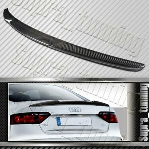 Real Carbon Fiber Trunk Spoiler Wing For 2008-2016 Audi A5 Quattro Coupe V-Style