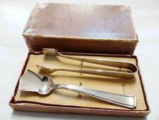 Vintage Silver Sugar Tongs And Spoon Grade 90