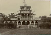 Madagascar, Une Résidence Coloniale  Vintage citrate print.  Tirage citrate