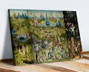 The Garden of Earthly Delights Bosch CANVAS WALL ART PRINT ARTWORK PAINTING
