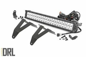 """Rough Country 20"""" LED Bumper Kit (fits) 2019-2021 Ram 1500   Amber Daytime"""