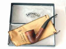 VTG SAVINELLI Punto Oro Bent Dublin Smoking Pipe w/ Orig. Box and Pouch