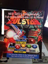 Pulstar Neo Geo Arcade Marquee