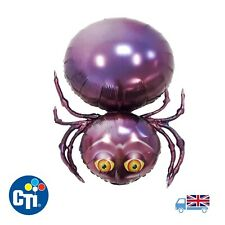 "32"" Jumbo Purple Spider Body Halloween Helium Balloon CTI Party Fun Spooky"