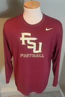 FSU Florida State Seminoles Nike Dri Fit Athletic Long Sleeve T Shirt Size XL
