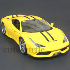 Bburago Ferrari 458 Speciale 1:18 Diecast Model Car 18-16002 Yellow