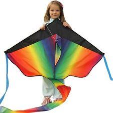 Huge Rainbow Kite For Kids - For Outdoor Games Activities, Summer Fun, UK SELLER