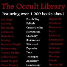 The Occult Library - Massive Collection of Occult Books- 2 Disc DVD Set