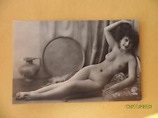 Orig French 1910's-1920's Nude Risque A. Noyer Postcard Sexy Pretty Lady #150