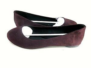 Soda Womens Round Toe Ballet Flat Shoes, Dark Wine US Size 9 M, EUR 40, UK 7
