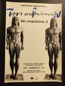 David Bowie Tin Machine ii Full Page Advertisement