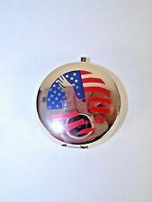 Portable Mini Sealed Metal Ashtray American Cigarette Travel Pocket Purse Eagle