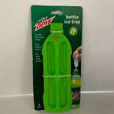 Mountain Dew Ice Tray Mold 2 Pk Make 8 Cubes Fits Bottles New Fit Ice In Bottle