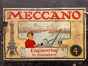 Antique MECCANO Erector Set & Accessory Kit Patent Date 1914--NO RESERVE