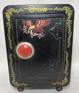 "1970s MOSLER JUNIOR Toy Safe Coin Bank Vault Combination LockVintage 10""H x 7""W"