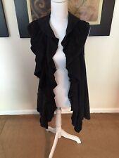 Cable & Gauge Petite Black Cardigan Lace 100% Cotton PL