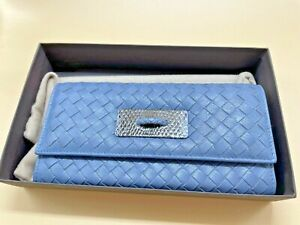 Bottega Veneta Women's Wallet, large, Smoky Blue