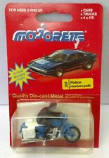 Majorette Police Motorcycle No. 203 MINT on CARD made in France