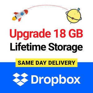 Dropbox 18GB Lifetime Upgrade Permanent Space Referral Service SAME DAY