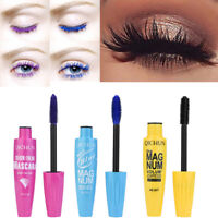 Hot Long Curling Makeup Eyelash Multicolor Waterproof Fiber Mascara Eye Lashes