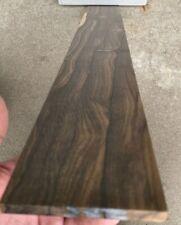🕷Stunning QS ZIRICOTE Bass Fretboard 30 X 4 x .31 Milled in USA Spider Grain