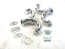 SBC 327 350 Chevy Ram Horn Header Chrome BPH-5001C
