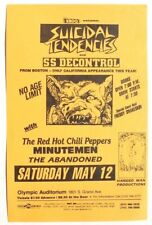 Vtg 1980s Suicidal Tendencies & SS Decontrol Punk Rock Concert Flyer CA