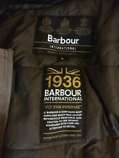 barbour international wax jacket large