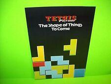 Barcrest TETRIS PAYOUT Original NOS 1990 Video Arcade Game Promo Sale Flyer Rare