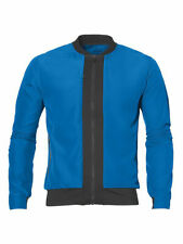 ASICS Running Men's Fuzex Logo Bomber Jacket - XL - Blue - New