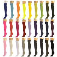 Plain Over the Knee Socks