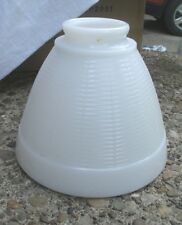Vintage White Glass Light Shade flare style 1950s fixture lamp lighting textured
