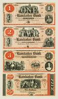 Black River Falls, Wisconsin - Kankakee Bank Uncut Sheet PROOF 1857 COPY