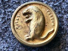 Orig 1908 William Howard Taft Presidential Billy Possum Brass Uniform Button