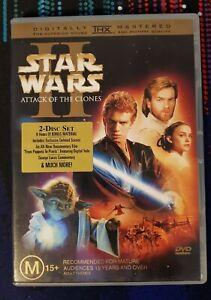 Star Wars II Attack of the Clones Movie DVD Region 4 AUS Free Postage