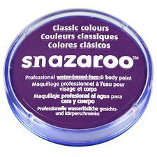 18ml Official Snazaroo Purple Face Paint Makeup Cream Tub Fancy Dress Accessory