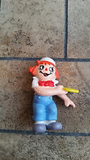Raggedy Andy Rubber Figurine with Frisbee - Bobbs Merrill - W Berrie