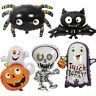 Halloween Carnival Cute Spider Bat Ghost Pumpkin Foil Balloon Party Decoration